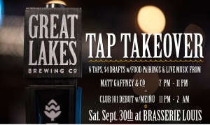 GREAT LAKES TAP TAKEOVER SEPT 30TH